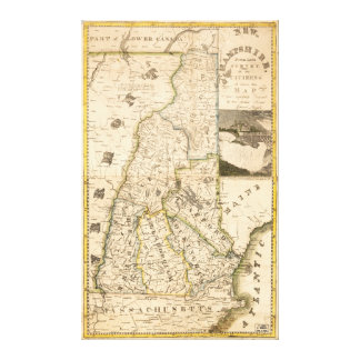 Map of the State of New Hampshire (1817) Canvas Print