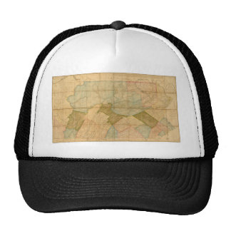 Map of the State of Pennsylvania in 1792 Hat