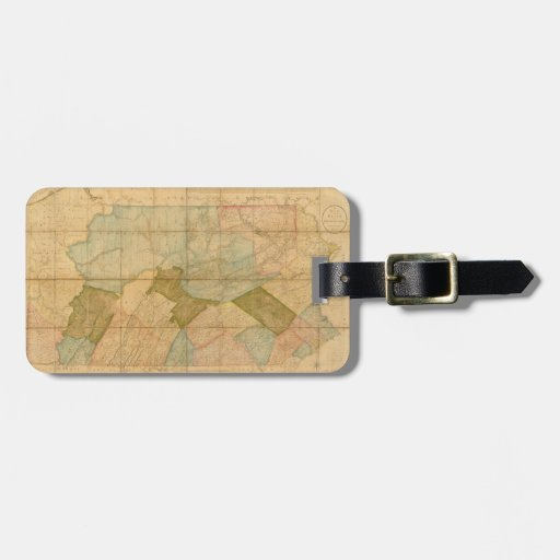 Map of the State of Pennsylvania in 1792 Luggage Tags