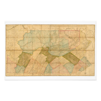 Map of the State of Pennsylvania in 1792 Personalized Stationery