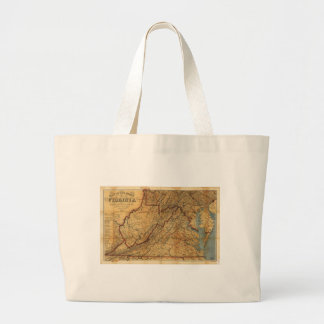 Map of the State of Virginia (1863) Jumbo Tote Bag