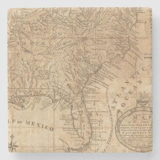Map of the States of Virginia and North Carolina Stone Coaster