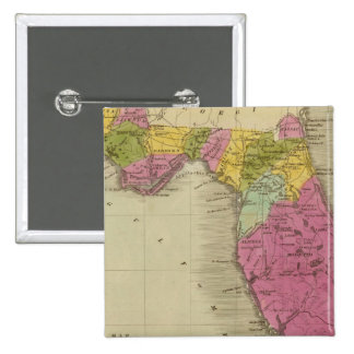 Map of the Territory of Florida 15 Cm Square Badge