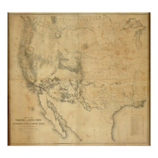 Map of The Territory of The United States Poster