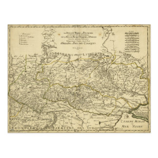 Map of the Ukraine by Guillaume Sanson (1674) Postcard