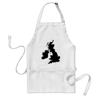 Map of the United Kingdom Aprons