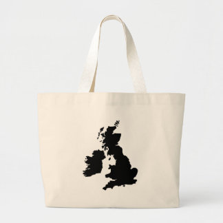 Map of the United Kingdom Tote Bags