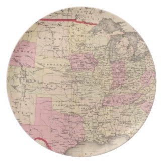 Map of the United States 5 Plates