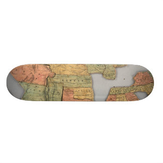 Map of the United States and Canada Skate Boards