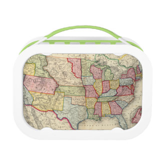 Map Of The United States, And Territories Lunch Boxes