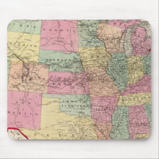 Map of the United States and territories Mouse Pad