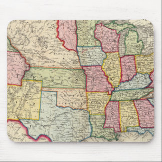 Map Of The United States, And Territories Mouse Pad