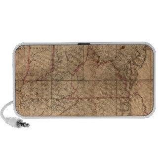 Map of the United States By Abraham Bradley Junior iPod Speakers
