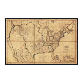 Map of the United States by John Melish (1818) Canvas Print