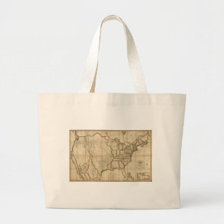 Map of the United States of America (1816) Jumbo Tote Bag