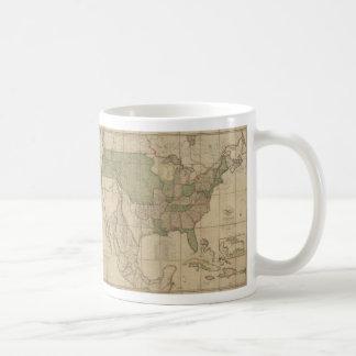 Map of the United States of America (1820) Basic White Mug