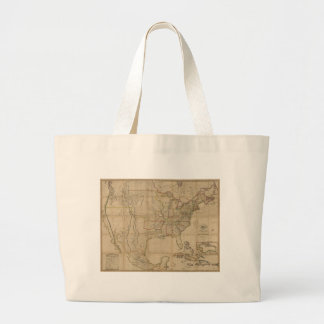 Map of the United States of America (1823) Jumbo Tote Bag
