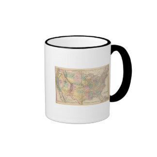 Map of the United States of America 3 Mugs