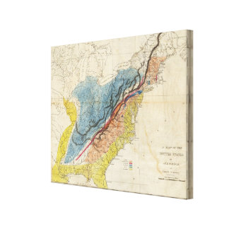 Map of the United States of America Canvas Prints