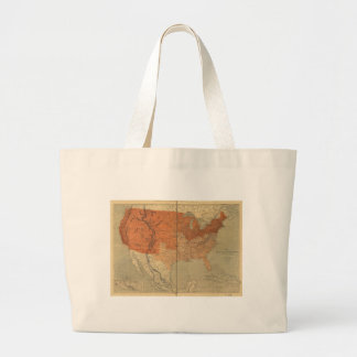 Map of the United States of North America (1861) Jumbo Tote Bag