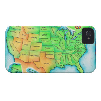 Map of the USA iPhone 4 Cases