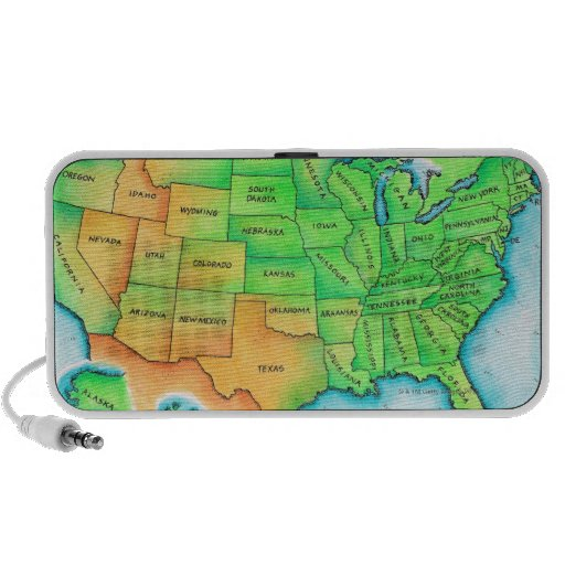 Map of the USA Laptop Speaker