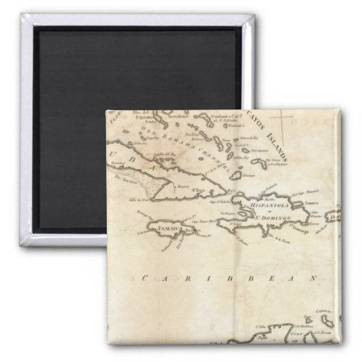 Map of the West Indies 2 Magnet