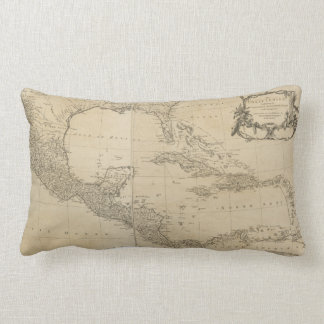 Map of the West Indies by Sayer & Jefferys (1760) Lumbar Cushion