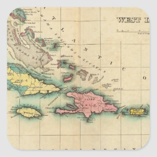 Map Of The West Indies Sticker