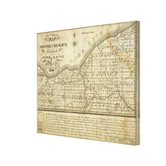 Map of The Western Reserve Canvas Print