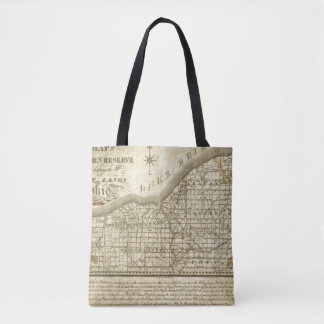 Map of The Western Reserve Tote Bag