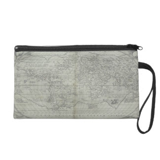 Map of the World 10 Wristlet Clutch