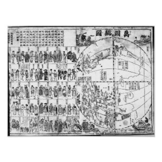Map of the World, 1671 Poster