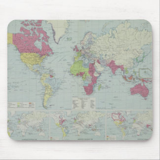 Map of the World 20 Mouse Pad