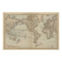 World map posters prints zazzle map of the world 2 poster gumiabroncs Images