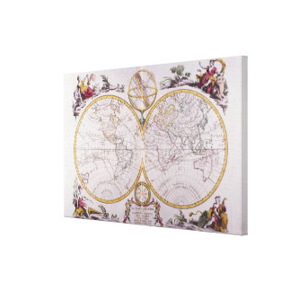 Map of the World 3 Canvas Print