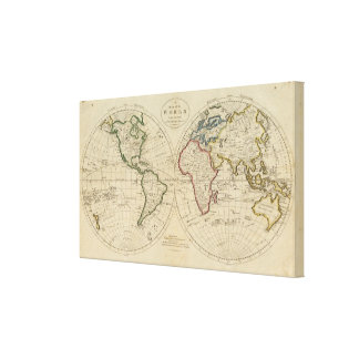 Map of the World 4 Canvas Print