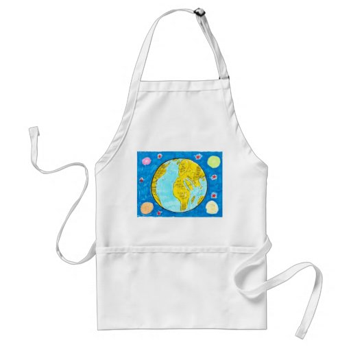 Map of the World Apron