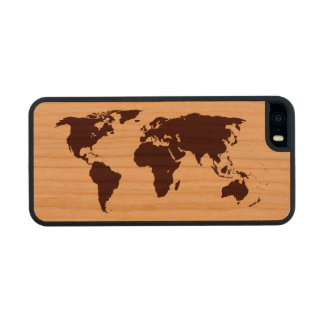 Map of the world carved® cherry iPhone 5 case