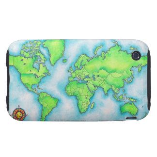 Map of the World Tough iPhone 3 Case