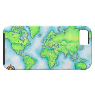 Map of the World iPhone 5 Case