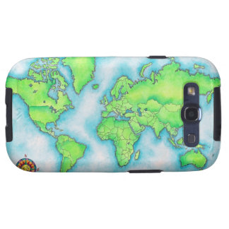 Map of the World Samsung Galaxy S3 Covers