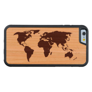 Map of the world cherry iPhone 6 bumper