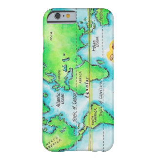 Map of the World Equator iPhone 6 Case