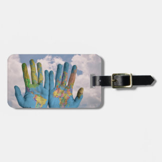 Map of The World in Our Hands Luggage Tag