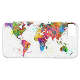 Map of the World Map Watercolor iPhone 5 Cases