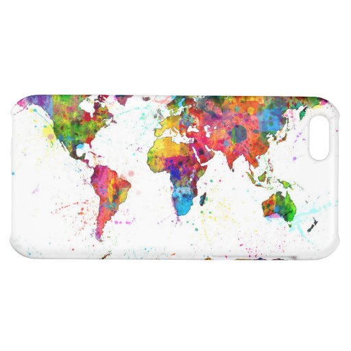 Map of the World Map Watercolor iPhone 5C Case