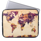 Map of the World Map Watercolor Painting Laptop Sleeve