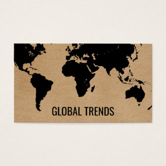 Map of the World   Natural 2 Business Card