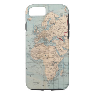 Map of the world on Mercator's projection iPhone 7 Case